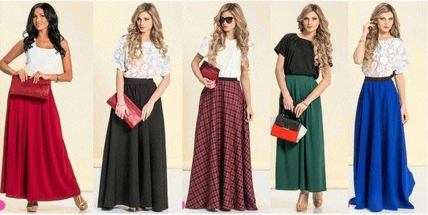 Мода на макси юбки