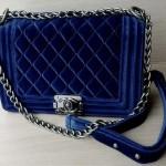 синего цвета