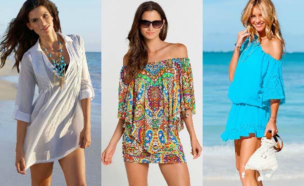 Пляжные платья и туники стильные